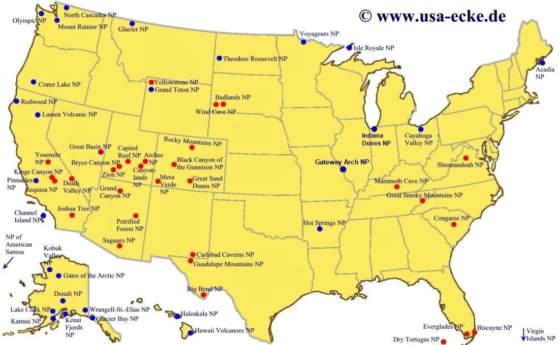 USA-Ecke Maps